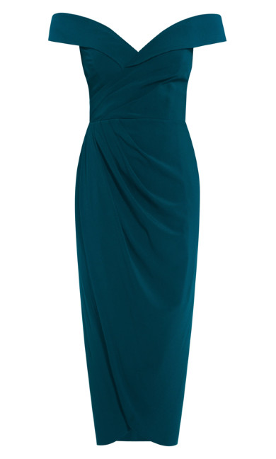Rippled Love Dress - emerald