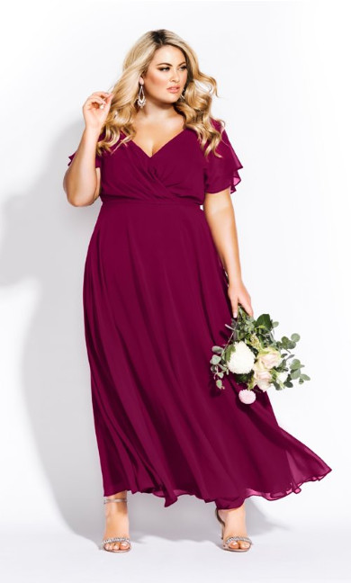 Sweet Wishes Maxi Dress - garnet