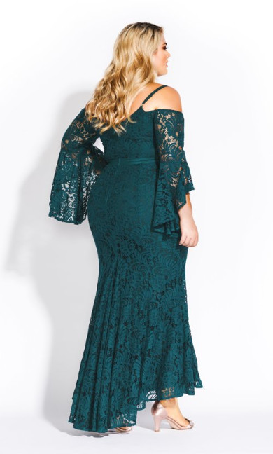 Mesmerize Maxi Dress - emerald