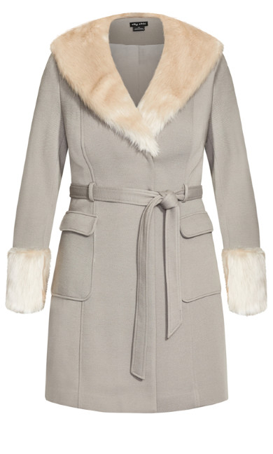 Make Me Blush Coat - stone
