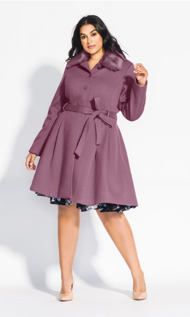 Women's Plus Size Blushing Belle Coat - rose