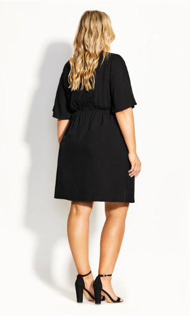 Knot Front Dress - black