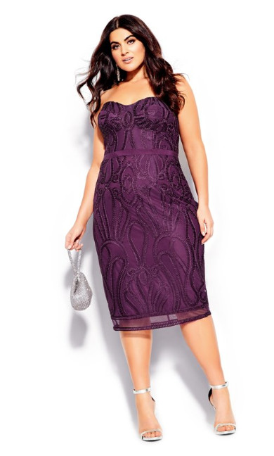 Women's Plus Size Antonia Dress - mulberry