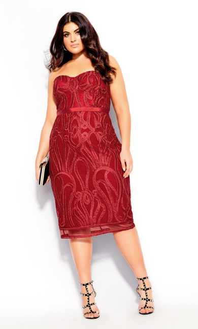 Women's Plus Size Antonia Dress - red