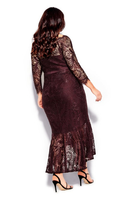 Estella Maxi Dress - oxblood