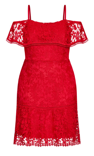 Dream Of Lace Dress - scarlet