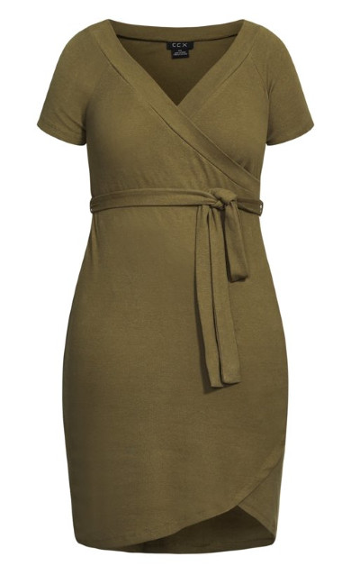 Lounge Around Dress - khaki