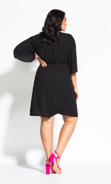 Jolie Wrap Dress - black