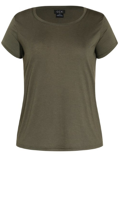 Simple Cool Tee - khaki