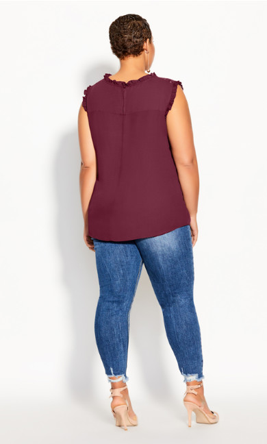 Lace Angel Top - plum