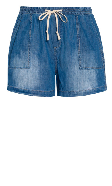 Denim Jogger Short - denim