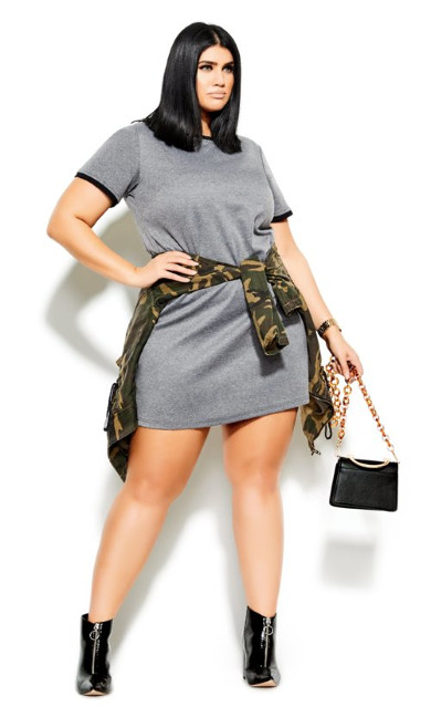 Women's Plus Size Carefree Dress - grey