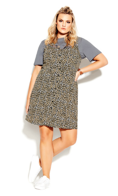 Sweet Animal Dress - ochre
