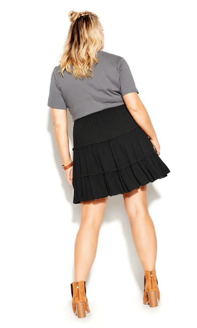 Tiered Love Skirt - black