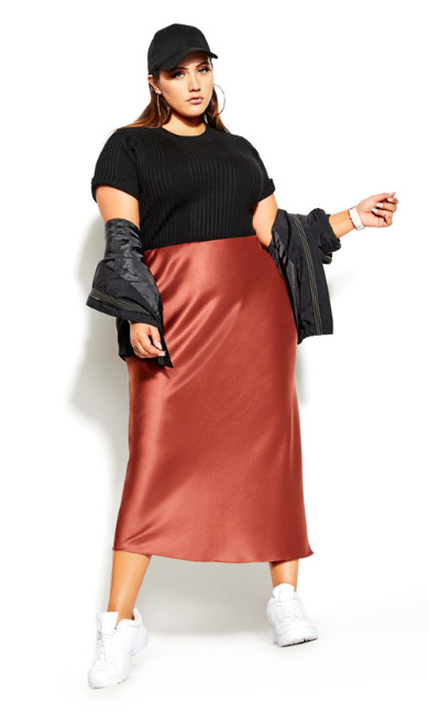 Women's Plus Size SKIRT MAXI SATIN