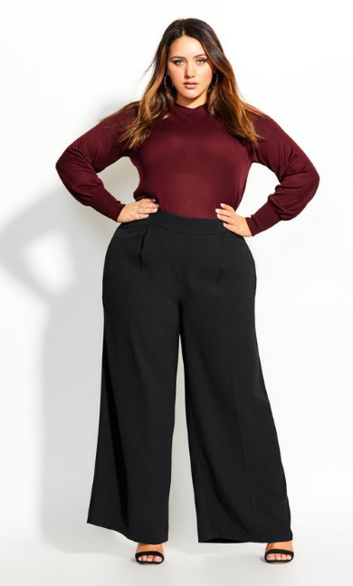Women's Plus Size Graceful Pant - black