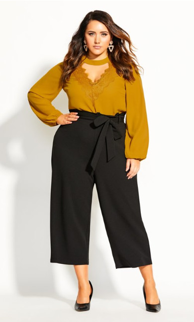 Stylish Tie Pant - black