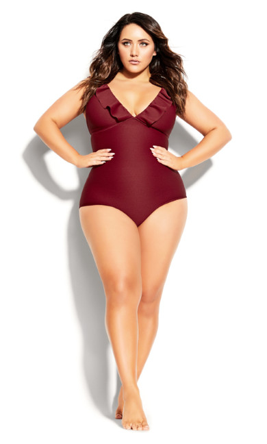 Plus Size Cavallo 1 Piece - red