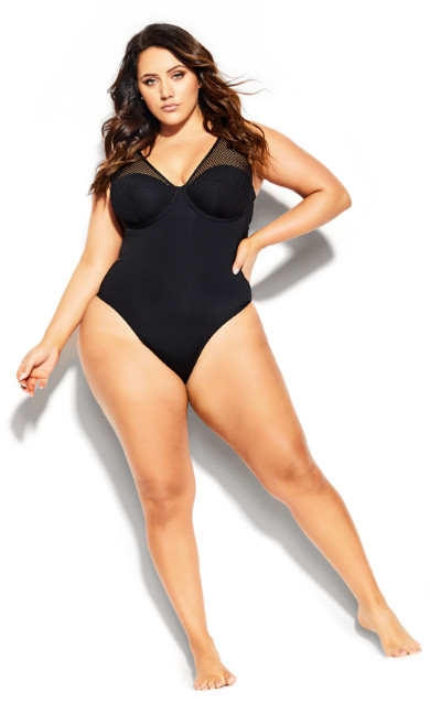 Ithica Underwire 1 Piece - black