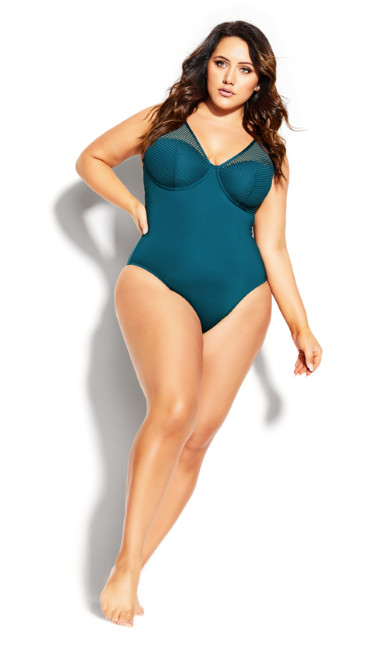 Ithica Underwire 1 Piece - blue