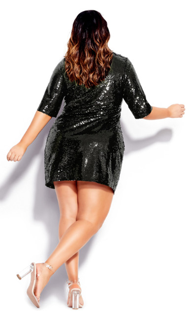 Sequin Glow Dress - black