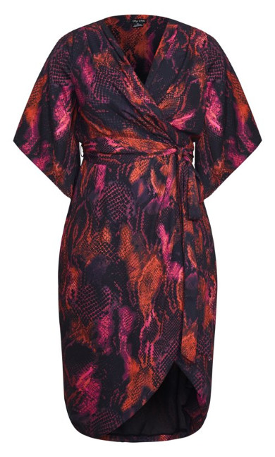 Garnet Slither Dress - black