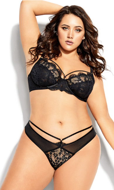 Plus Size Delores Underwire Bra - black