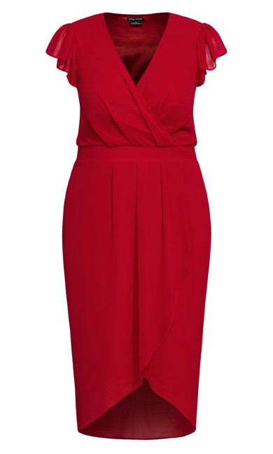 Wrap Swing Dress - red