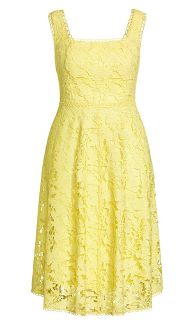 Avery Lace Dress - buttercup