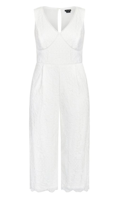 Lace Covet Jumpsuit - ivory