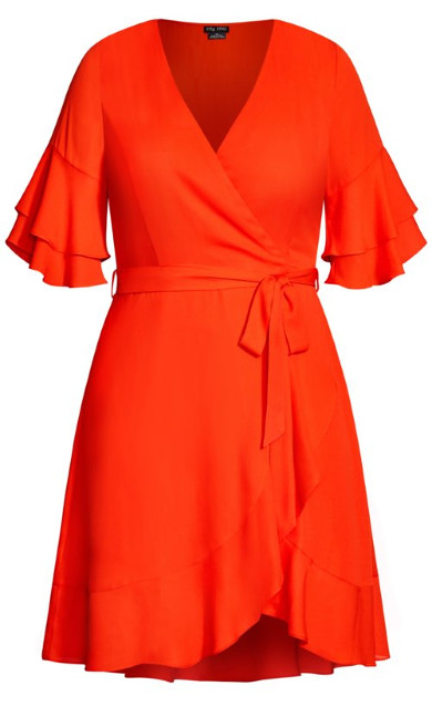 Flutter Me Dress - sunkist
