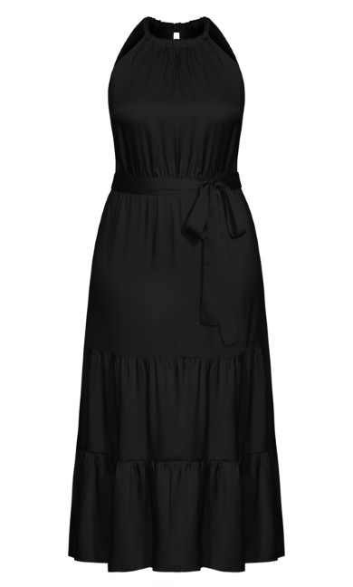 Halter Lady Maxi Dress - black