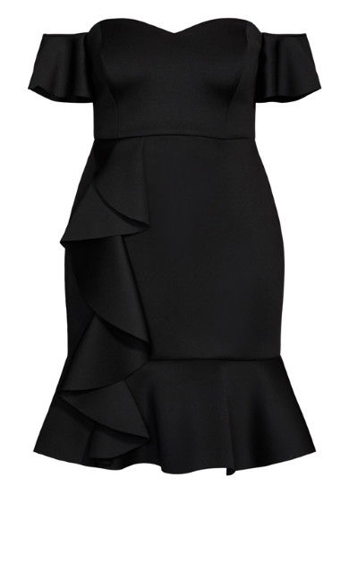 Flutter Away Dress - black