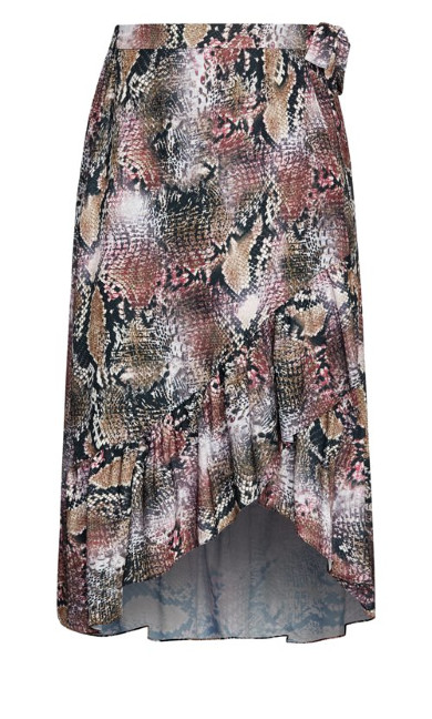 Serpent Snake Skirt - black