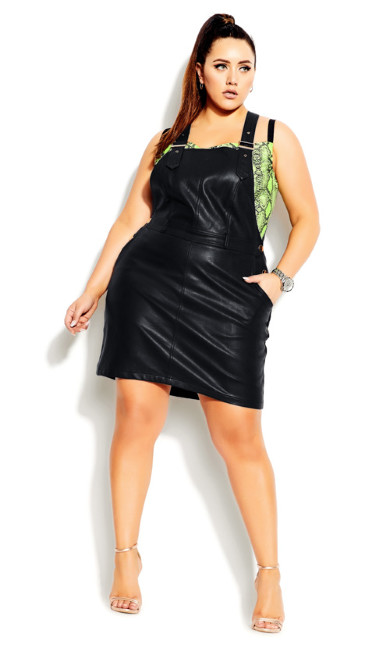 Pinafore Dress - black