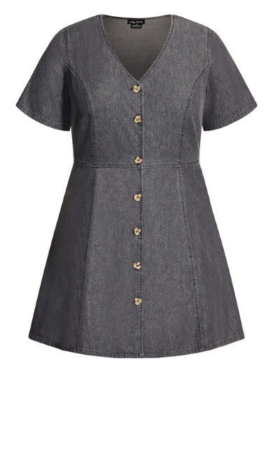 Soft Denim Dress - black
