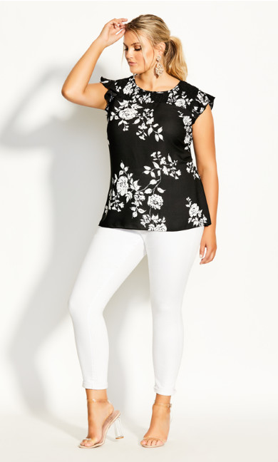 Night Garden Top - black