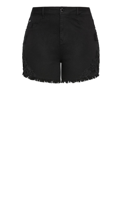 Harley Foxy Lace Short - black