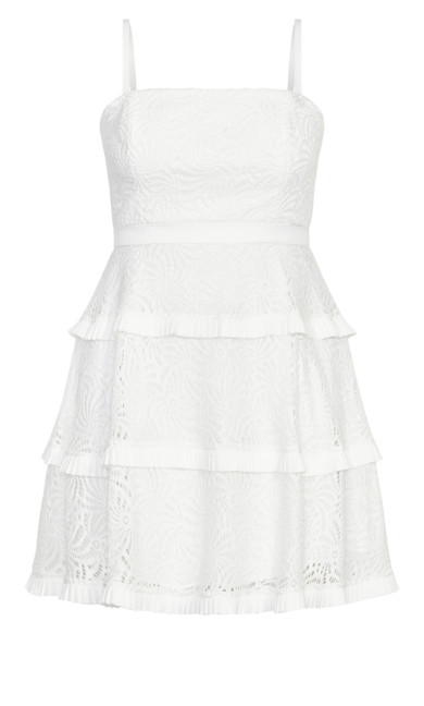 Angelic Lace Dress - ivory