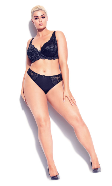 Plus Size Darcie Underwire Bra - black