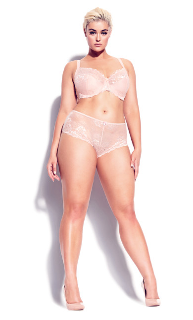 Plus Size Cosette Lace Demi Bra - blush