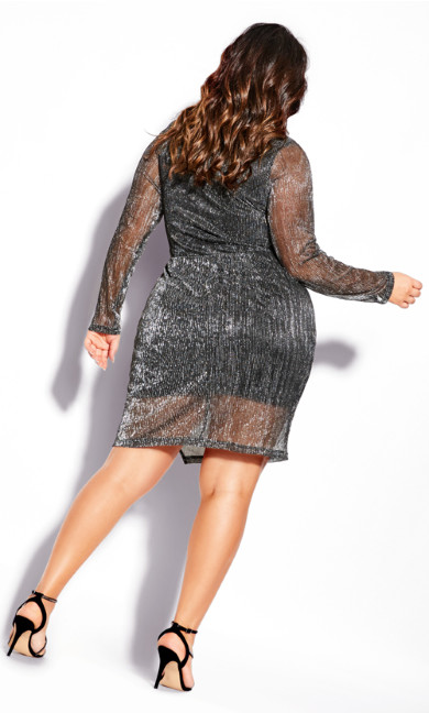 Sparkle Dress - gunmetal