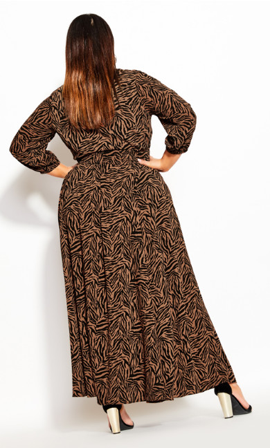 Mini Tiger Maxi Dress - tawny