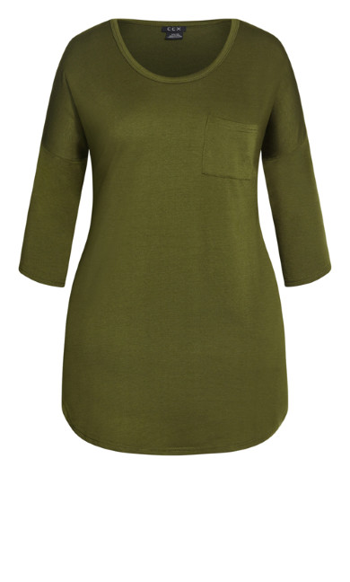 Lazy Days 3/4 Dress - khaki