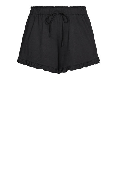 Lounger Frill Short - black