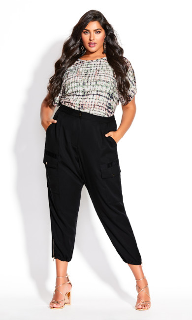 Plus Size Utility Bliss Pant - black
