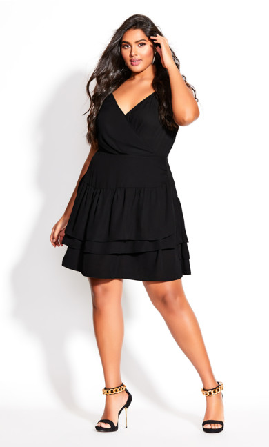 Plus Size Ramble Dress - black
