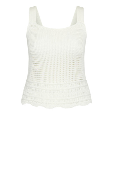 Simply Crochet Top - ivory