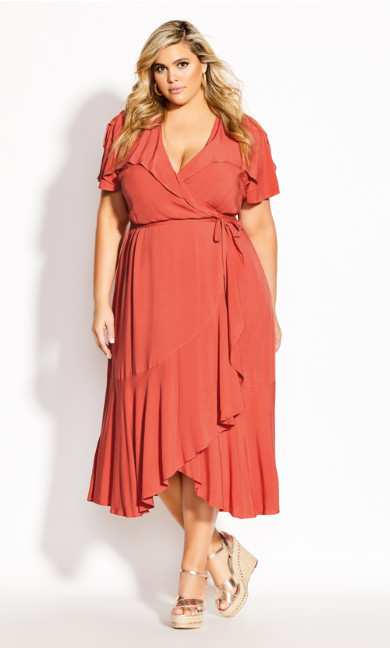Fiesta Fun Maxi Dress - rust