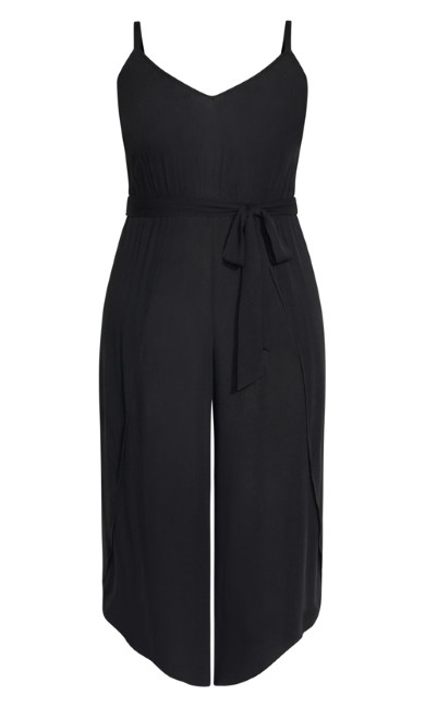 Tropic Tie Jumpsuit - black